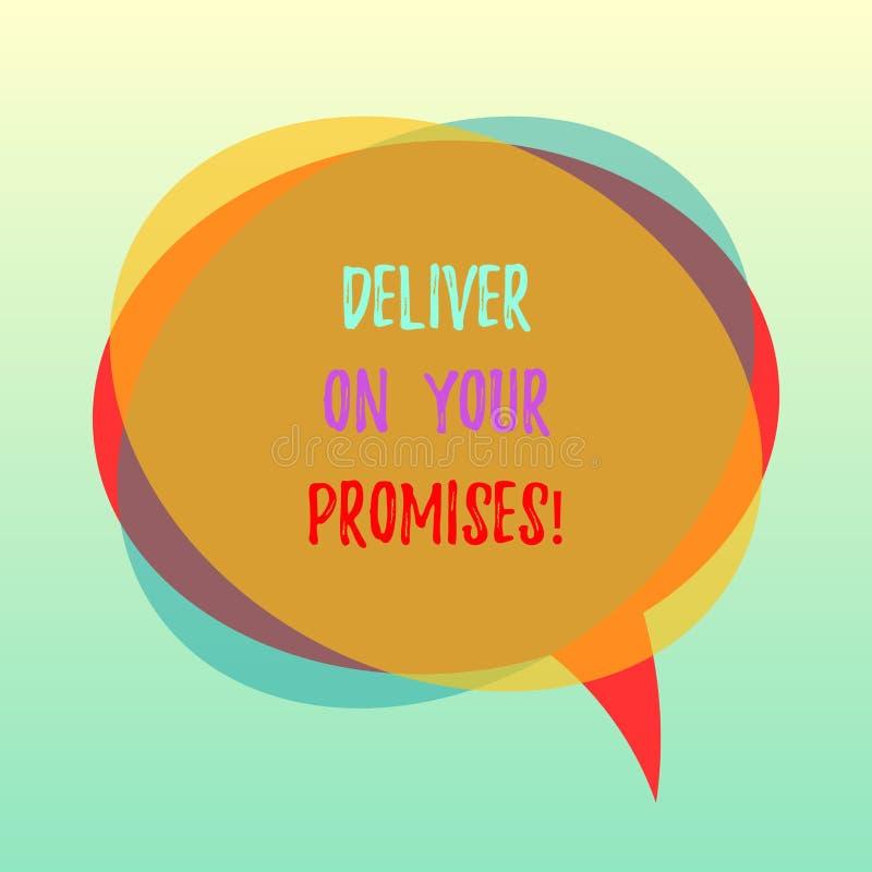 手写文本实现您的承诺 概念意思做什么您许诺了承诺发行空白讲话 向量例证