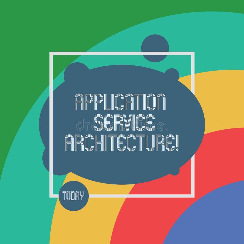 手写文本应用服务建筑学 概念连接应用程序和数据解答的意思设计  库存例证