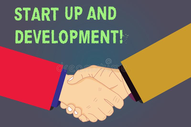 手写文本开始和发展 概念意思新的企业成功公司项目战略胡分析 皇族释放例证