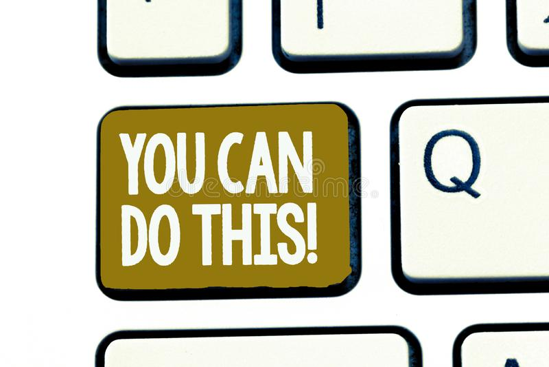 手写文本您能做此 概念意思渴望和自愿克服挑战在生活中 向量例证