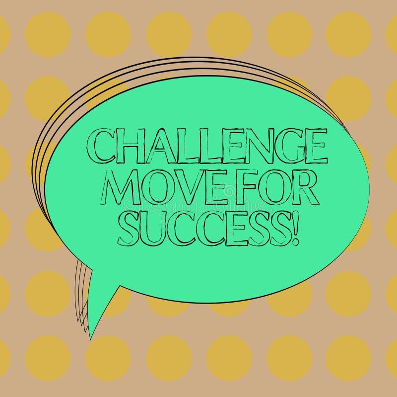 手写文本成功的挑战移动 成功空白的长圆形的概念意思专业运动战略 库存例证