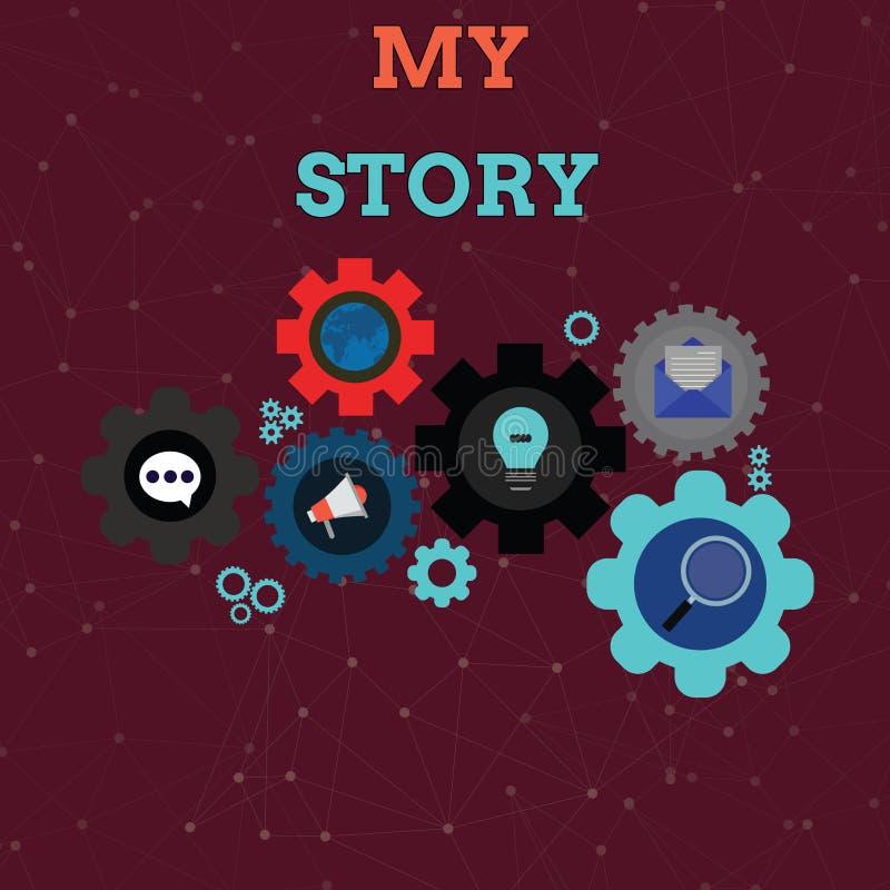 手写文本我的故事 发生在某人身上生活套的全球性的概念意味事的或情况 库存例证