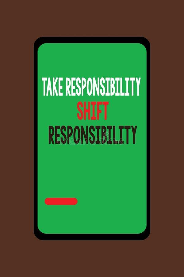 手写文本承担责任转移责任 概念意思成熟采取义务 向量例证