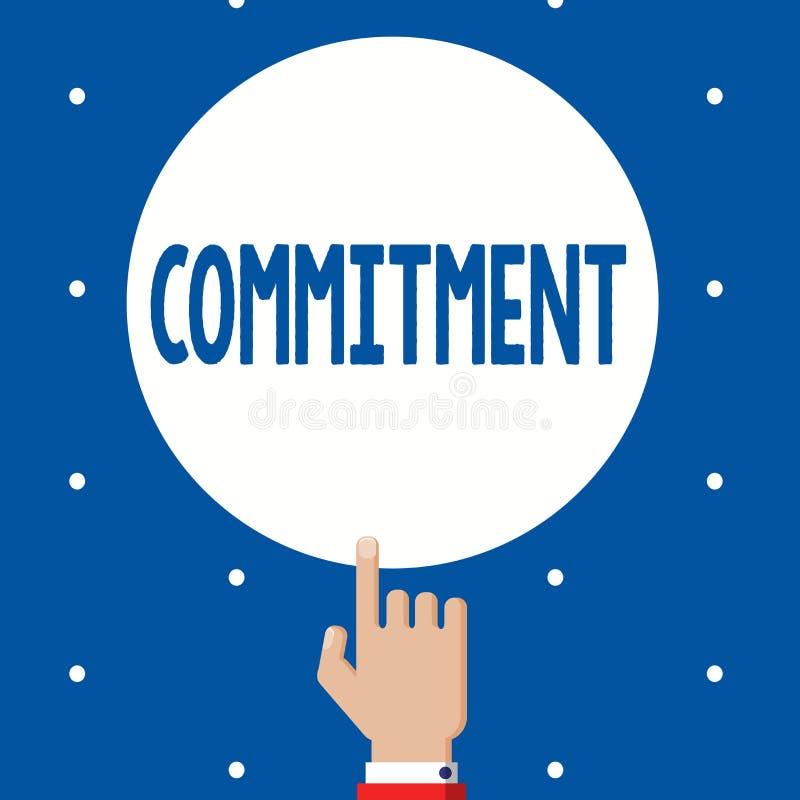 手写文本承诺 意味质量是的概念热忱的导致活动订婚 向量例证