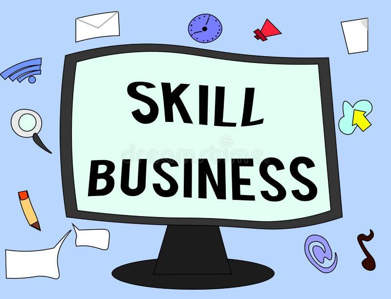 手写文本技巧事务 概念意思能力处理商业投机知识分子专门技术 库存例证