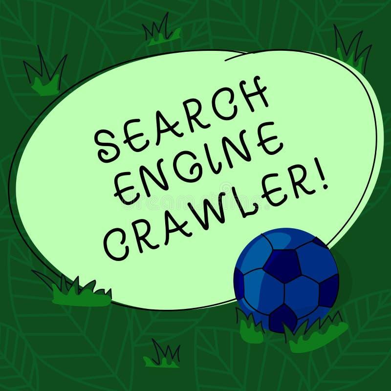 手写文本搜索引擎履带牵引装置 概念意思节目或浏览网足球的自动化的剧本 库存例证