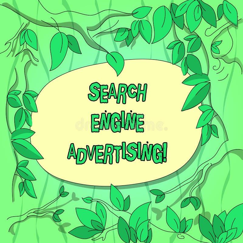 手写文本搜索引擎广告 概念安置网上广告树枝意思方法  向量例证