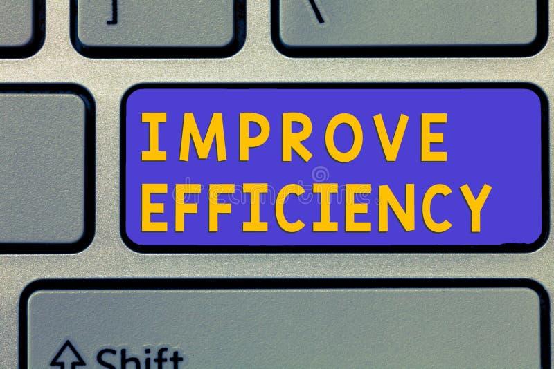 手写文本改进效率 概念在表现的意思能力与最少白费力气 免版税图库摄影