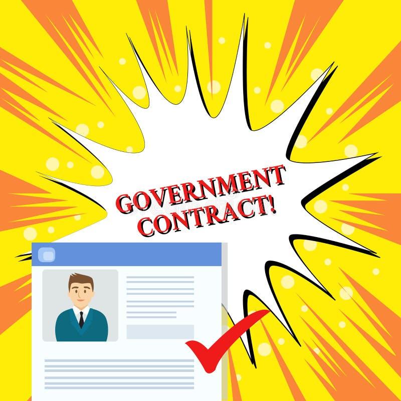 手写文本政府合同 意味协议过程的概念卖服务到管理 皇族释放例证