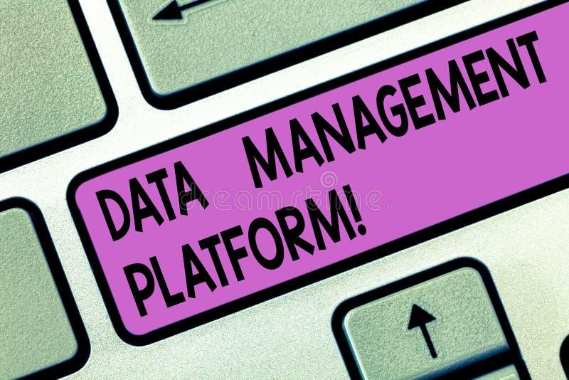 手写文本数据管理平台 意味会集数据键盘集中化技术平台的类型概念 库存图片