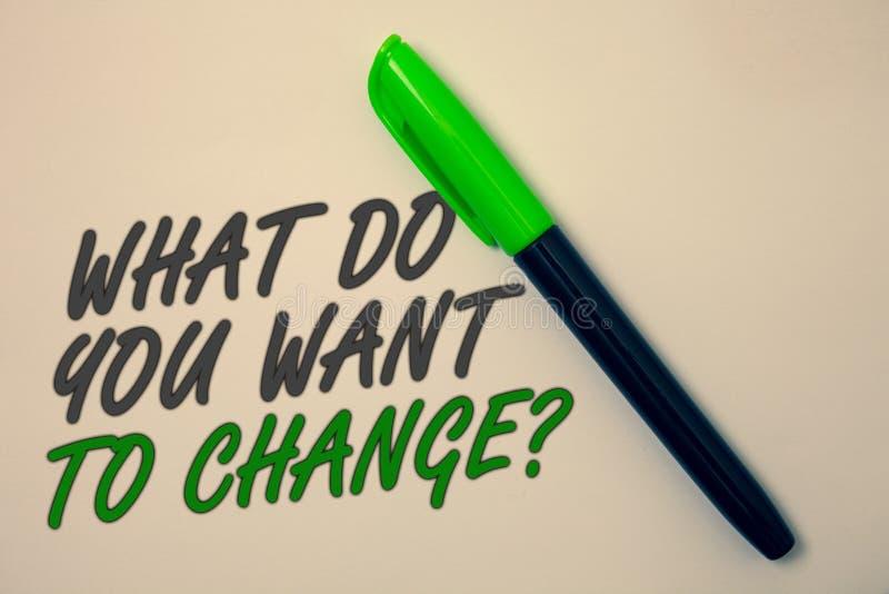 手写文本文字什么您要改变问题 概念意思战略规划判定客观想法消息b 向量例证