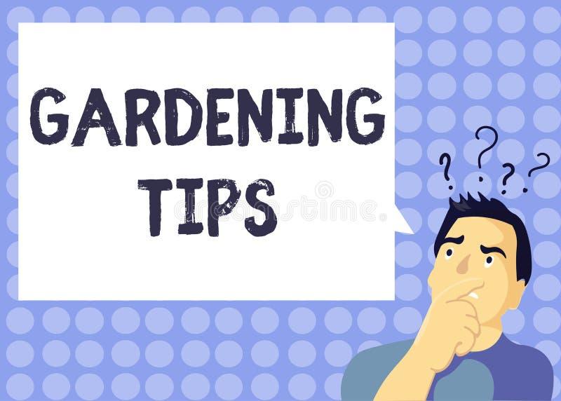 手写文本文字从事园艺的技巧 意味在生长庄稼植物的方法的概念适当的实践 向量例证