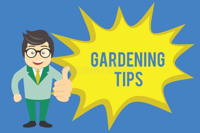 手写文本文字从事园艺的技巧 意味在生长庄稼植物的方法的概念适当的实践 库存例证