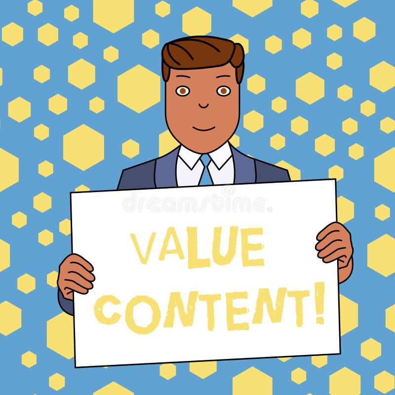 手写文本文字价值内容 意味质量美满的文字的概念得到好在搜索引擎等级 向量例证