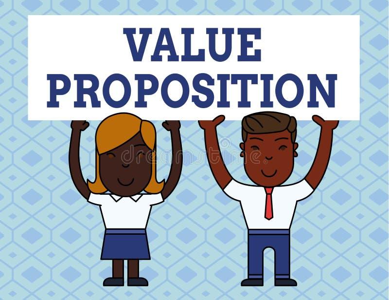 手写文本文字价值提议 概念意思特点意欲做公司或产品有吸引力两 向量例证