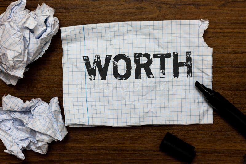 手写文本文字价值 概念个人和财政意义重要性想法的意思测量裱糊inspira 免版税图库摄影
