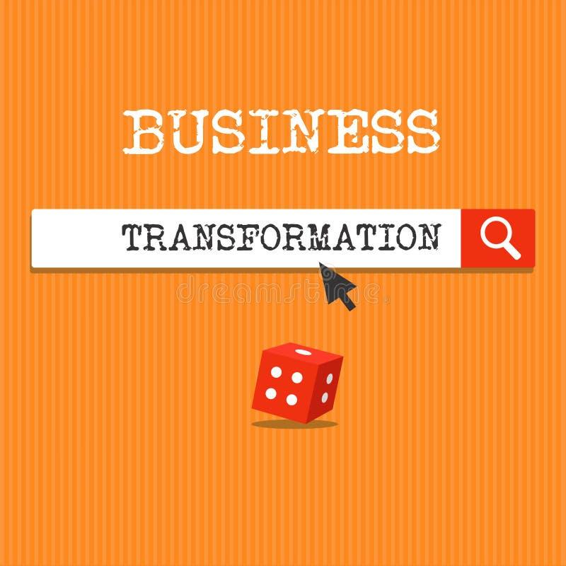手写文本文字企业变革 概念意思与战略改善排列他们的商业模型 皇族释放例证