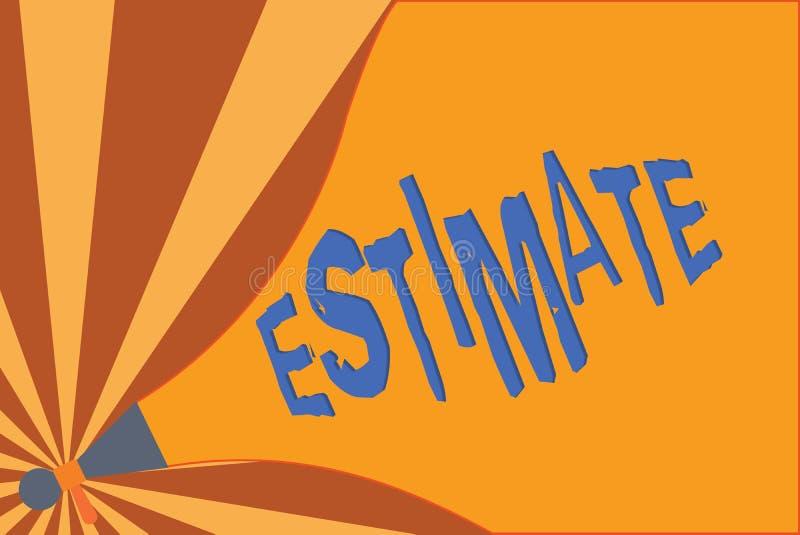 手写文本文字估计 大致意味的概念计算法官价值数字某事的数量程度 库存例证