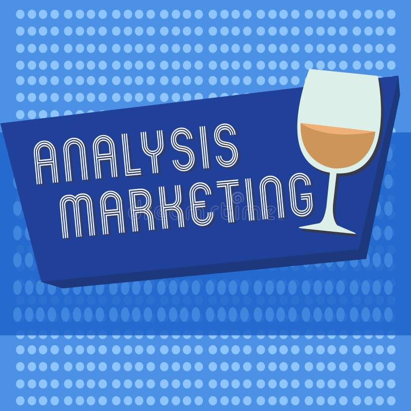 手写文本文字分析营销 意味对市场的定量和定性评估的概念 向量例证
