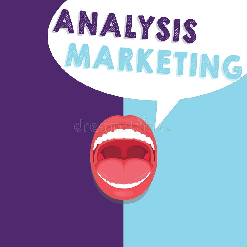 手写文本文字分析营销 意味对市场的定量和定性评估的概念 皇族释放例证