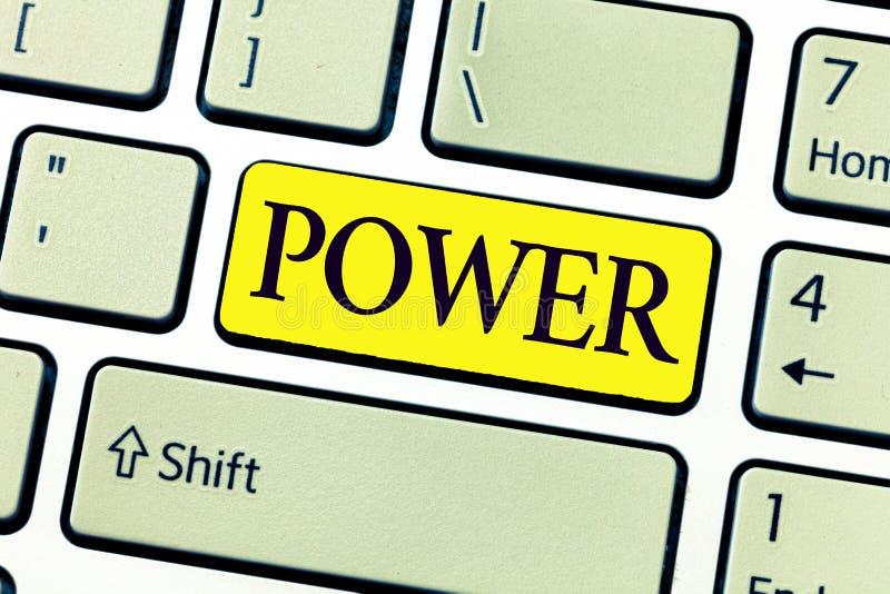 手写文本文字力量 概念意思能力能力做某事或特别是行动方式电 免版税图库摄影
