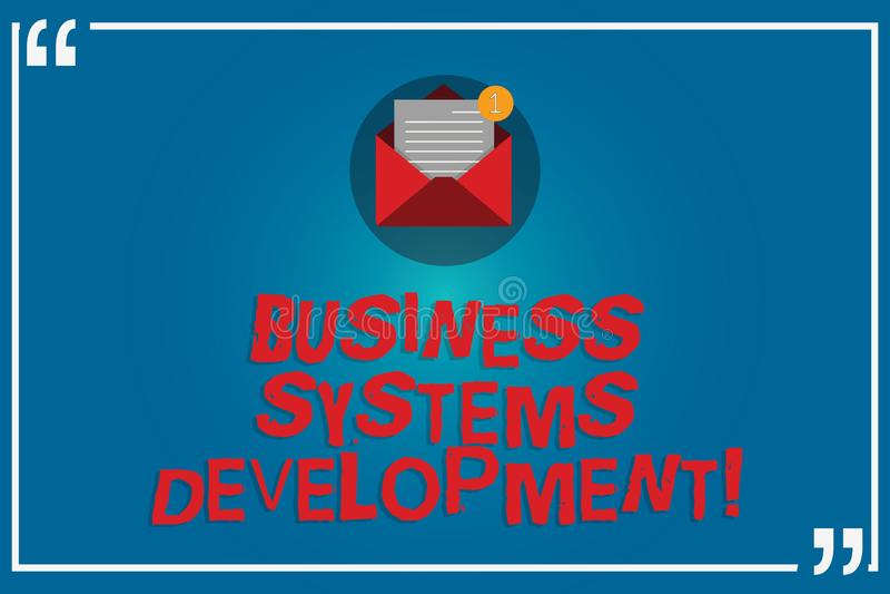 手写文本文字商务系统发展 概念定义和开发开放的系统的意思过程 向量例证