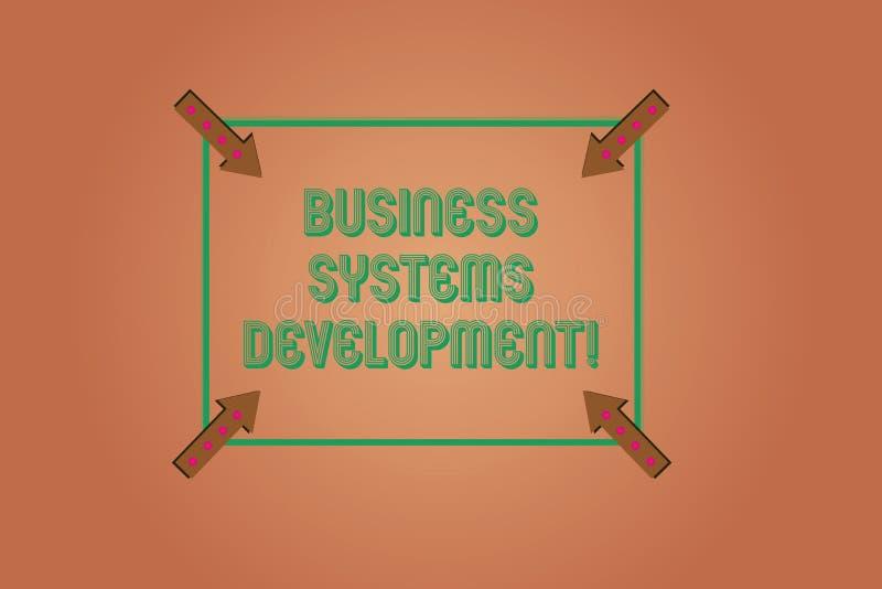 手写文本文字商务系统发展 概念定义和开发系统的意思过程摆正 库存例证