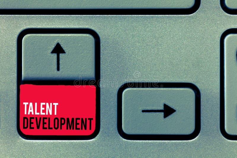 手写文本文字天分发展 概念意思大厦改进潜在的领导的技能能力 库存图片