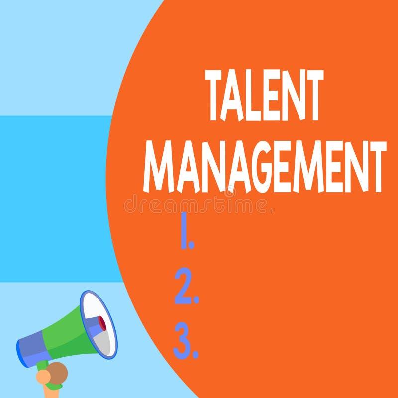 手写文本文字天分管理 获取聘用和保留的概念意思有天才的雇员半零件 向量例证