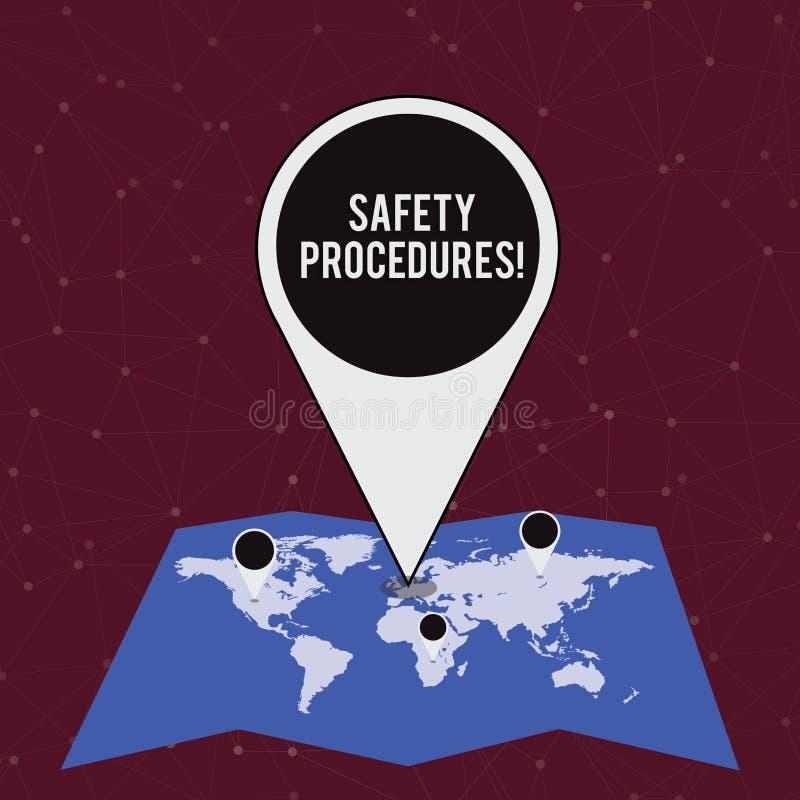 手写文本文字安全程序 概念意思遵守条例五颜六色工作场所的安全的 库存例证