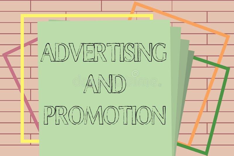 手写文本文字广告和促进 意味在媒介的概念受控制和被支付的销售的活动 向量例证