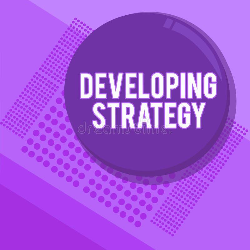 手写文本文字开发的战略 概念意思组织过程改变到达宗旨 库存例证