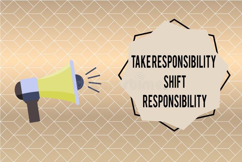手写文本文字承担责任转移责任 概念意思成熟采取义务 向量例证