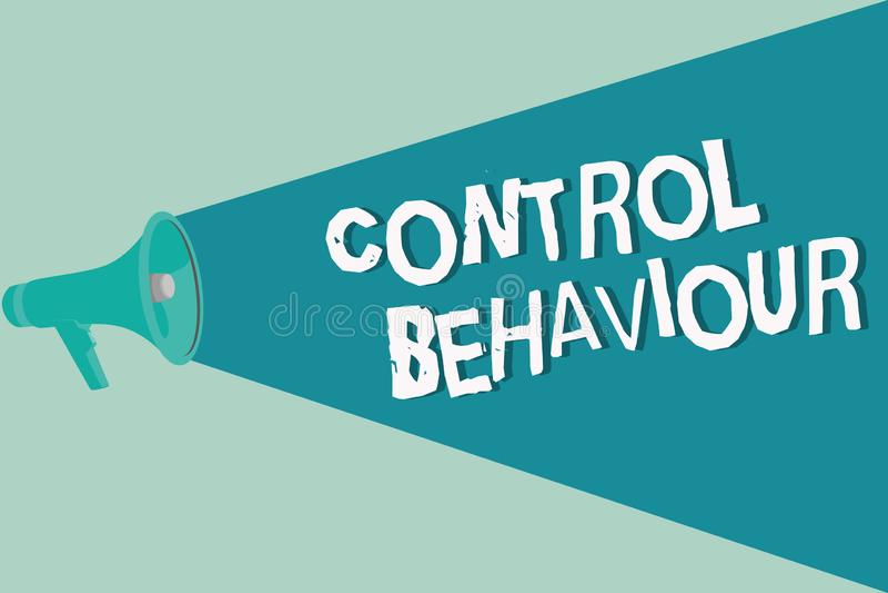 手写文本文字控制行为 概念影响和当局意思锻炼在人的品行 向量例证