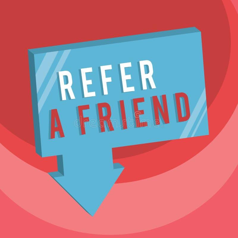 手写文本文字提到一个朋友 概念意思推荐任命在任务合格的某人 库存例证
