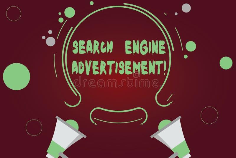 手写文本文字搜索引擎广告 安置网上广告的概念意思在网页两 皇族释放例证