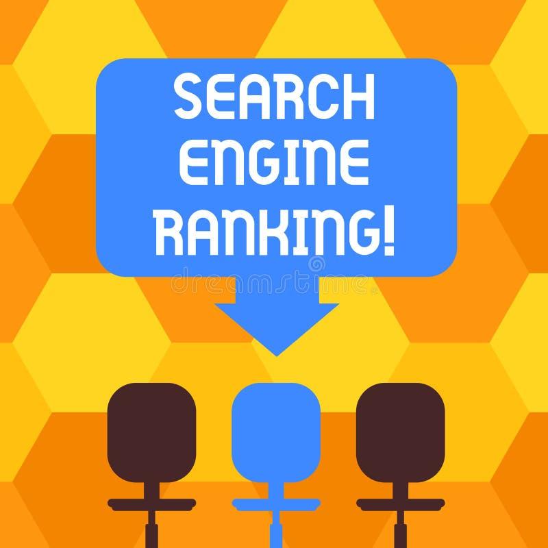 手写文本文字搜索引擎等级 概念站点出现于搜索引擎询问的意思等级 向量例证