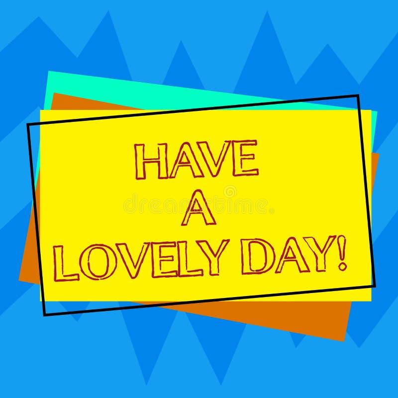 手写文本文字有一可爱的天 今天意味您的概念祝福满满能有美好时光刺激堆 库存例证