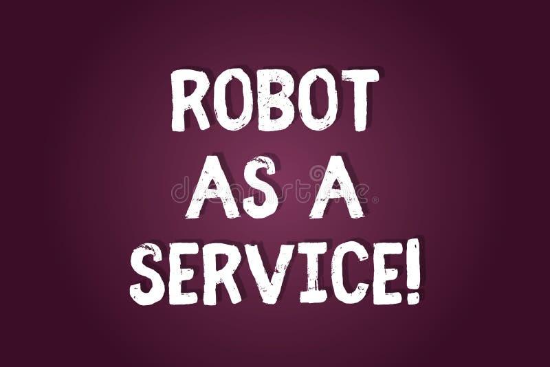 手写文本文字机器人作为服务 概念意思人工智能数字协助闲谈马胃蝇蛆空白 皇族释放例证