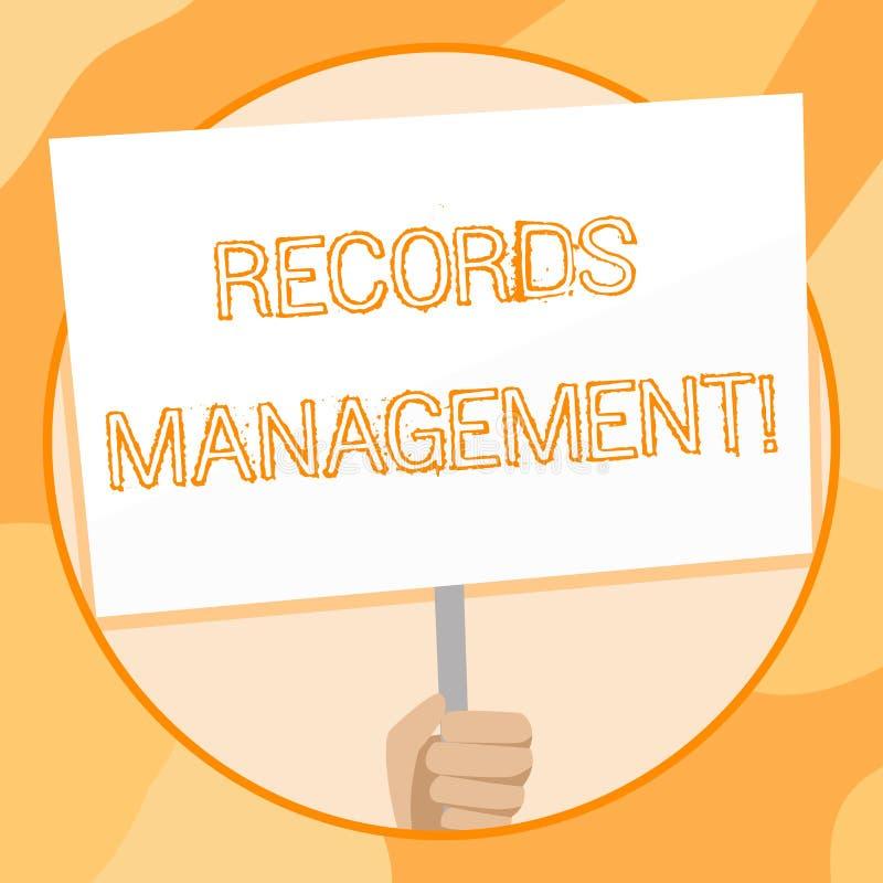 手写文本文字档案管理 概念纪录和被提供的信息手的意思管理 皇族释放例证
