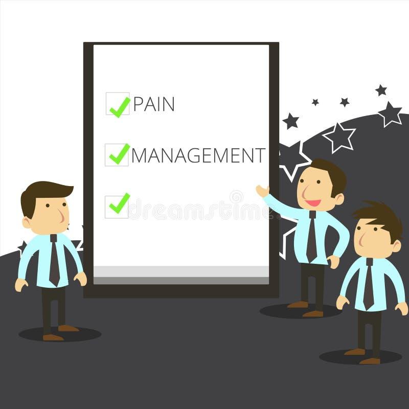 手写文本文字痛苦管理 意味医学部门的概念使用多学科互动 库存例证