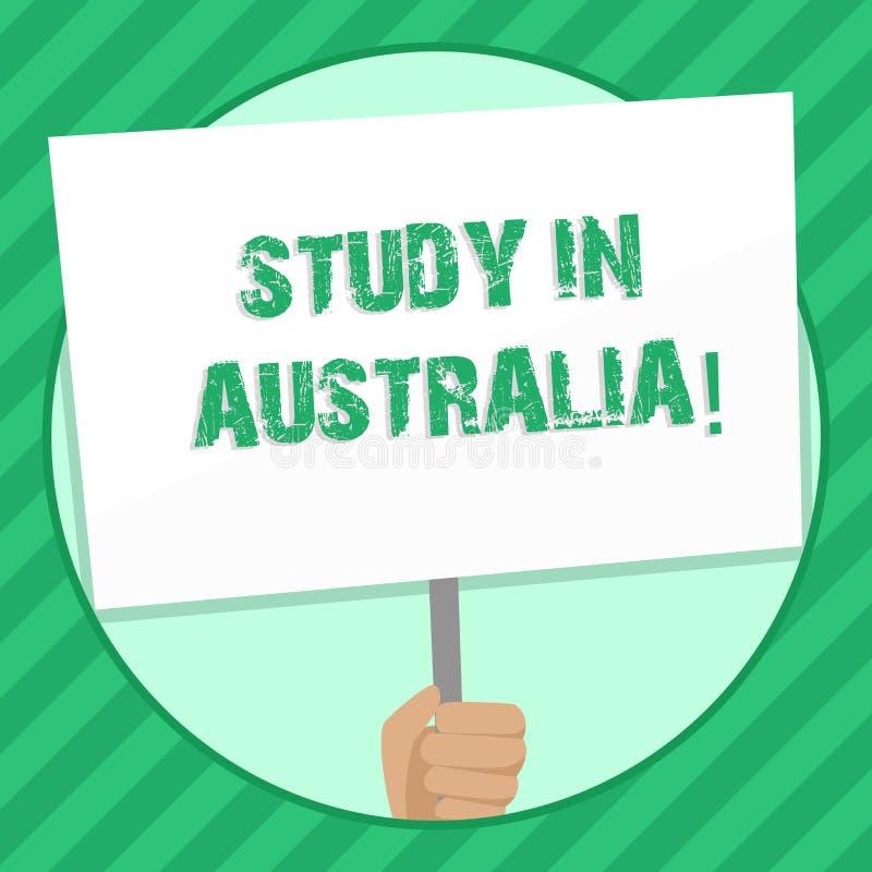 手写文本文字研究在澳大利亚 概念从国外大学重要机遇手的意思毕业生 向量例证