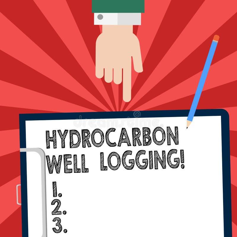 手写文本文字碳氢化合物钻井测试 概念钻孔胡分析的地质结构的意思纪录 向量例证