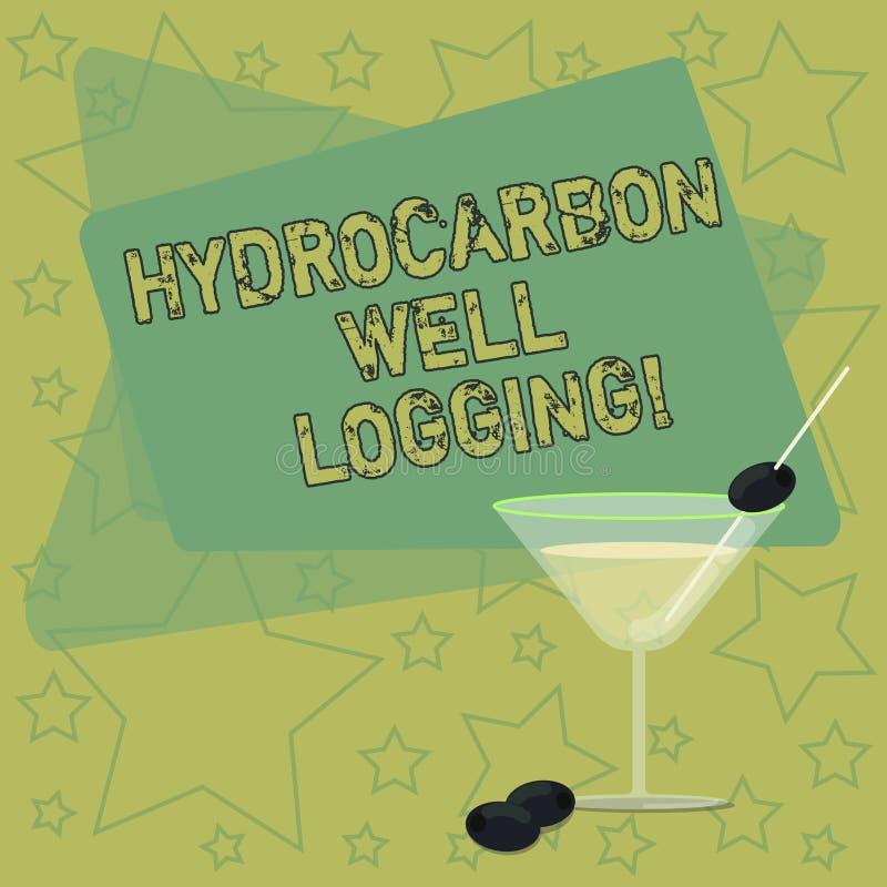 手写文本文字碳氢化合物钻井测试 概念钻孔被填装的鸡尾酒的地质结构的意思纪录 皇族释放例证