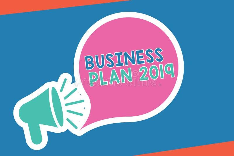 手写文本文字经营计划2019年 意味富挑战性企业想法和目标的概念新年 皇族释放例证