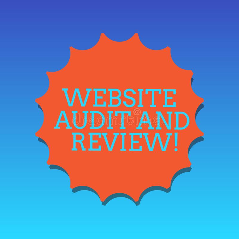 手写文本文字网站审计和回顾 概念网页反馈修正空白封印的意思评估与 向量例证
