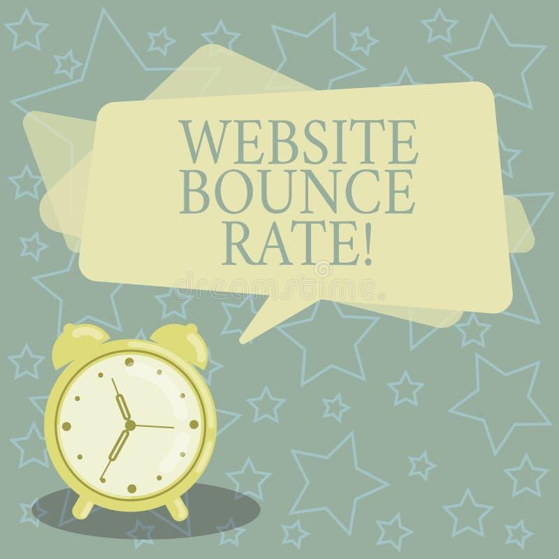 手写文本文字网站跳动率 概念意思互联网用于网交通分析空白的市场术语 向量例证