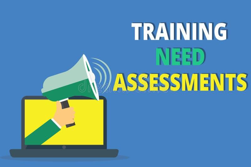 手写文本文字训练需要评估 概念意思确定锻炼要求填补空白 库存例证
