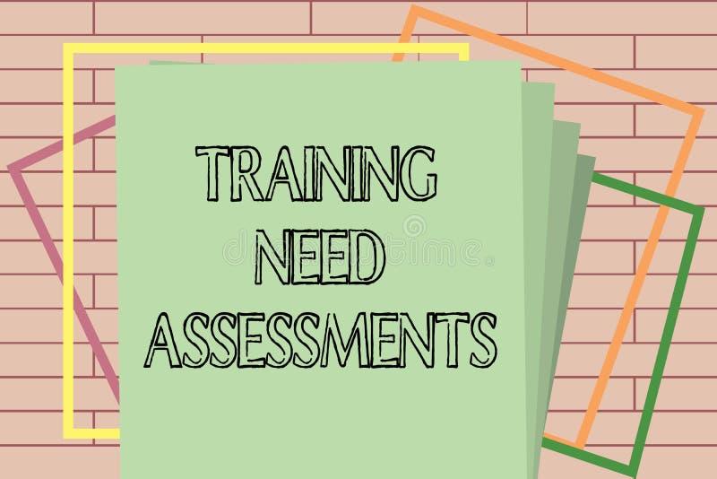 手写文本文字训练需要评估 概念意思确定锻炼要求填补空白 皇族释放例证