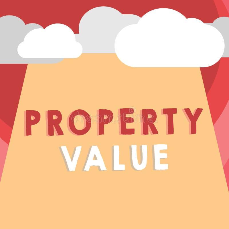手写文本文字财产价值 概念土地房地产鉴定人公平的市场价的意思价值 皇族释放例证